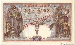 1000 Francs ALGÉRIE  1926 P.029s pr.NEUF