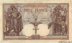 1000 Francs ALGÉRIE  1938 P.029 TB+