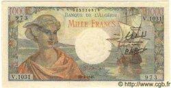 1000 Francs ALGÉRIE  1945 P.030A SUP
