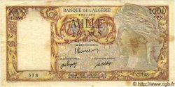1000 Francs ALGÉRIE  1947 P.104 TB+