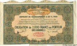 Obligation de 2000 Francs au Porteur ALGÉRIE  1950 P.-- TTB+