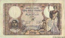 5000 Francs ALGÉRIE  1942 P.032 pr.TB