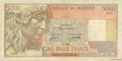 5000 Francs ALGÉRIE  1947 P.105 B à TB