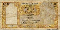1000 Francs ALGÉRIE  1949 P.107a B+
