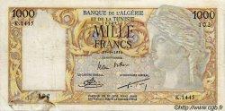 1000 Francs ALGÉRIE  1954 P.041b B+