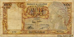 1000 Francs ALGÉRIE  1956 P.041b B+