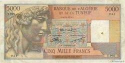 5000 Francs ALGÉRIE  1950 P.109b TB