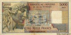 5000 Francs ALGÉRIE  1955 P.042A TTB