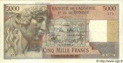 5000 Francs ALGÉRIE  1953 P.042A SUP