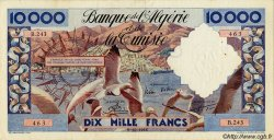 10000 Francs ALGÉRIE  1955 P.043 TTB+