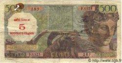 5 Nouveaux Francs sur 500 Francs ALGÉRIE  1956 P.044 TB