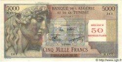 50 Nouveaux Francs sur 5000 Francs ALGÉRIE  1956 P.046 SPL