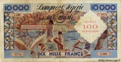 100 Nouveaux Francs sur 10000 Francs ALGÉRIE  1958 P.114 TB à TTB