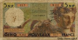 5 Nouveaux Francs ALGÉRIE  1959 P.118a B