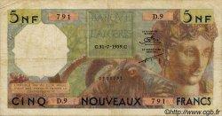 5 Nouveaux Francs ALGÉRIE  1959 P.118a TB+