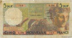 5 Nouveaux Francs ALGÉRIE  1959 P.118a B+