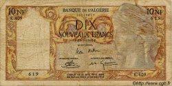10 Nouveaux Francs ALGÉRIE  1959 P.119a B