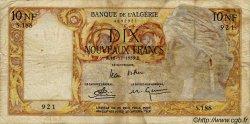 10 Nouveaux Francs ALGÉRIE  1959 P.048 pr.TB