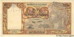 10 Nouveaux Francs ALGÉRIE  1961 P.048 pr.SUP