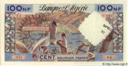 100 Nouveaux Francs ALGÉRIE  1959 P.050s pr.NEUF