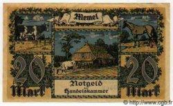 20 Mark MEMEL  1922 P.06a SUP