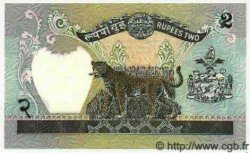 2 Rupees NÉPAL  1981 P.29c NEUF