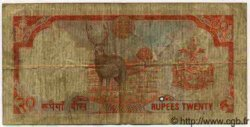 20 Rupees NÉPAL  1982 P.32 pr.TB