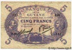 5 Francs GUYANE  1938 P.01b pr.TTB
