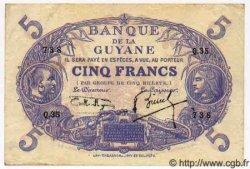 5 Francs GUYANE  1939 P.01c