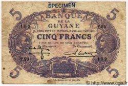 5 Francs GUYANE  1942 P.01ds TTB