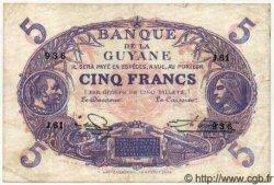 5 Francs Cabasson bleu GUYANE  1947 P.01e TTB