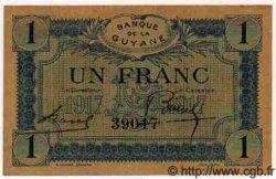 1 Franc GUYANE  1917 P.05 SPL