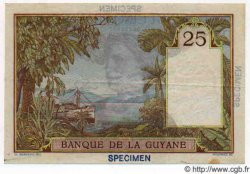 25 Francs GUYANE  1947 P.07s SUP+