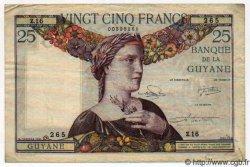 25 Francs GUYANE  1947 P.07 TTB+