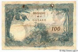 100 Francs GUYANE  1942 P.08s TB à TTB