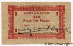 1 Franc GUYANE  1941 P.11 TTB+