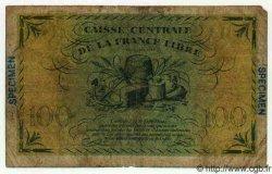 100 Francs GUYANE  1944 P.16s B+