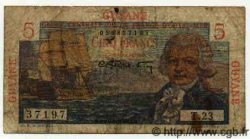 5 Francs GUYANE  1949 P.19 B+ à TB