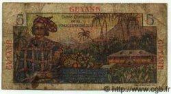 5 Francs Bougainville GUYANE  1949 P.19 B+ à TB