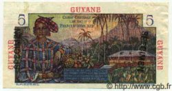 5 Francs Bougainville GUYANE  1949 P.19s SUP