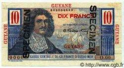 10 Francs GUYANE  1949 P.20s SPL