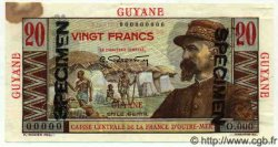 20 Francs GUYANE  1949 P.21s TB+