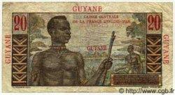 20 Francs GUYANE  1949 P.21 TB à TTB