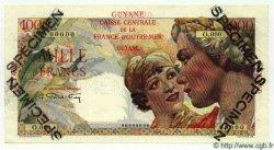 1000 Francs Union Française GUYANE  1949 P.25s NEUF