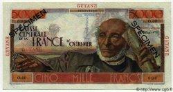 5000 Francs Schoelcher GUYANE  1949 P.26s NEUF