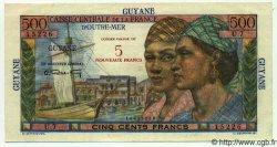 5 Nouveaux Francs sur 500 Francs GUYANE  1961 P.30 NEUF