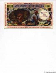 10 NF sur 1000 Francs pêcheur GUYANE  1961 P.31s NEUF