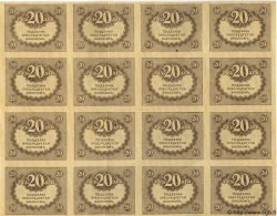 20 Roubles RUSSIE  1917 P.038 SUP+