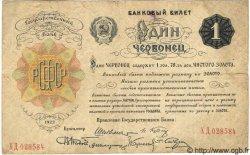 1 Chervonetz RUSSIE  1922 P.139 Tb