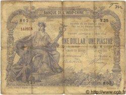 1 Dollar / 1 Piastre bleu, type 1891 INDOCHINE FRANÇAISE  1897 P.004A B+